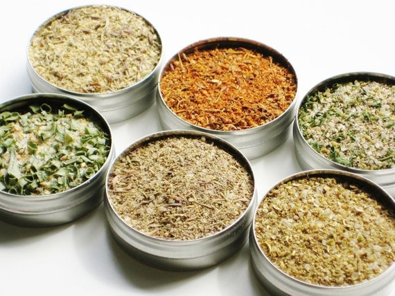 New - Fish & Seafood Spice Sampler - 61mm tins - 6 mouth watering flavors - the perfect grilling / cooking gift / hostess / holiday gift
