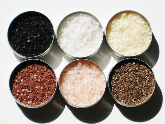 Gourmet Salt Sampler - 6 delicious salts - for cocktails, popcorn, grilling / heartfelt gift for birthday / hostess / thank you gift