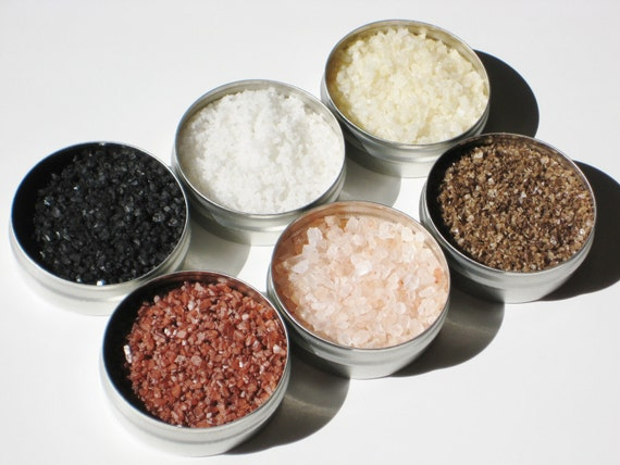Gourmet Salt Sampler - 6 cooking salt flavors for popcorn, snacks, cocktails & grilling - DIY gift for foodie / cooks / birthday