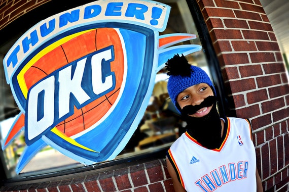 FREE SHIPPING beard hat fear the beard oklahoma city thunder