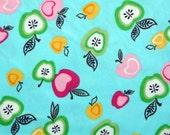 Robert Kaufman Aqua Apples Corduroy 21x18 Destash Sale