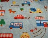 Fat Eighth Japanese vehicles fabric