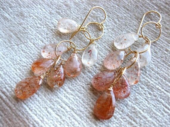 Portlandia Rocks - Oregon Sunstone Briolette Earrings