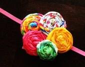 FuNkY RaiNbOw Rosette Headband. Soo bright and cute