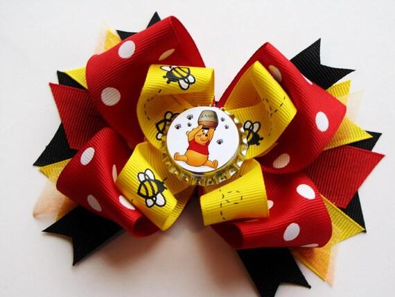 Winnie the Pooh Honey Bee Bow. SO CUTE