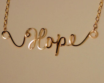 Hope Necklace in 14K Gold Fill wire