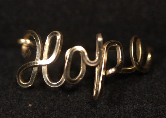 Hope Ring in 14K Gold Fill Wire