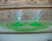 Vintage green Sherbert Glasses