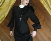 Habitual Dress Black and White Crepe Satin Designer Lillie Rubin Gown