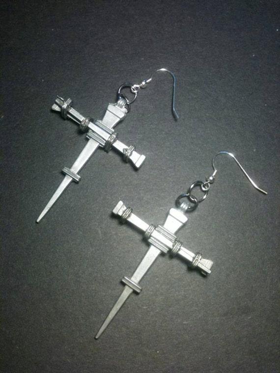 Gates Of Babylon Cross Dagger  Earrings