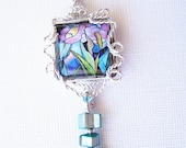 Lylac Lily Silver Wire Sculptured Pendant