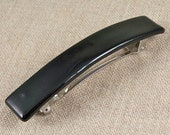 """Tiffany Barrette - SMALL 2.5"""" - Perfect Onyx Ink Jet Black Fused Glass - Buy Single or Set of Two"""