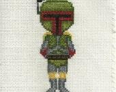 Boba Fett Cross Stitch Pattern