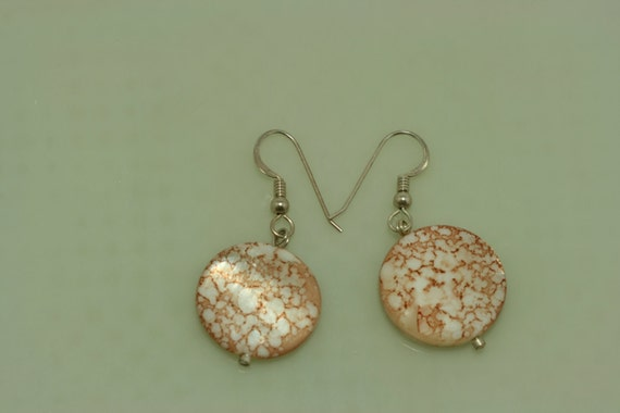 Crackle Shell Earrings