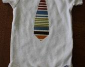 Stripe Tie Onesie