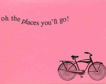 Graduation Congratulations Card -Bicycle - Girl High School Graduation - Biker Card - Cyclist - Congrats on your Promotion