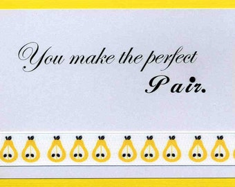 Wedding Congratulations Card - Perfect Pair