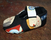 Cotton Mary Jane Baby Shoes custom sized from Newborn to 24 Months