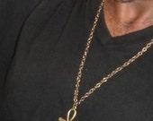 Brass or Silvertone  Egyptian Ankh Pendant