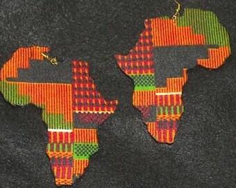 Kente Africa Earrings- 4 inches