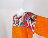 1980's Plus Size Tribal Print Shirt and Harem Pants