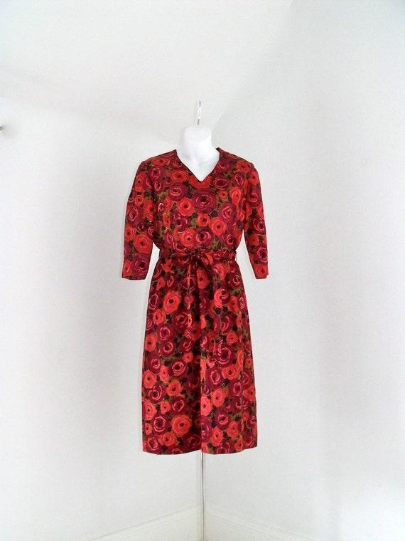 Vintage 1950's Cocktail Wiggle Dress Size 6