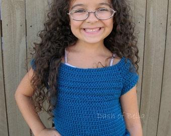Sweet and Sassy in Ruffles Crochet Shirt Pattern