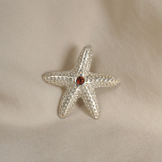 RESERVED - Sterling Silver Starfish Tie Tack Pin Brooch