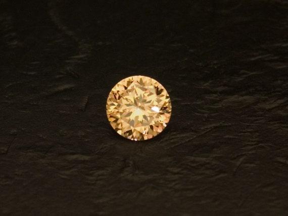 Champagne Cubic Zirconia -- 3.6 Carat Dazzling Round
