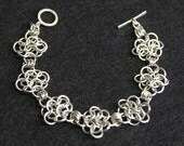 Chainmaille sterling silver bracelet