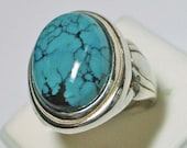 Sterling Silver Turquoise Ring  RETIREMENT CLEARANCE 6041