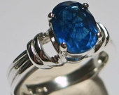 Sterling Silver Blue Crackle Quartz Ring  RETIREMENT CLEARANCE     6297