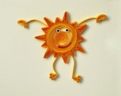 Quilled You're my Sunshine Card - Handmade greeting card quilling