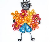Quilled For you Mum Card Mother's Day card Handmade greeting card