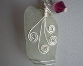 Nova Scotia Sea Glass Wire Wrapped Necklace