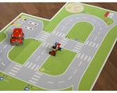 PAPER TOY Road playground, printable toy paper kit, paper doll house, downloadable, toy set, boys toys , printable diy toy kit, cars