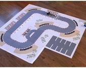 Printable FORMULA ROAD playground, printable toy kit, road, diy kit, kids printables kit, downloadable