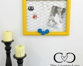 Reserved for Rachel - Yellow Chicken Wire Frame