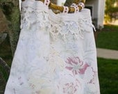Shabby Chic Handbag Made with Upcycled Vintage Table Linens