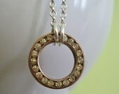 Upcycle  Sterling Circle Necklace