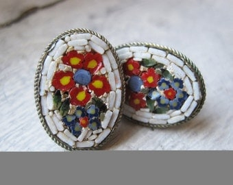 Upcycled Italian Mosaic Earrings
