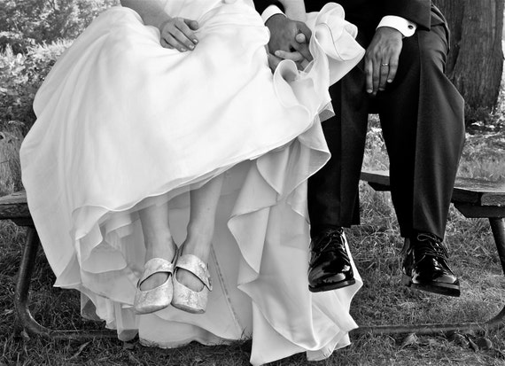 for C - Boxy Toe Wedding Slippers with Mary Jane Straps, Rubber Sole