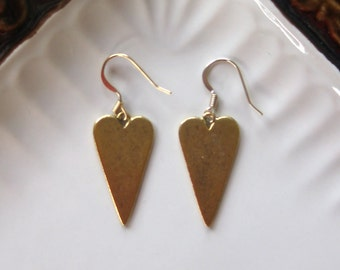 Gold Hammered Hearts