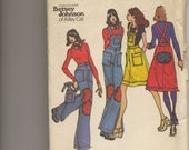 Retro 1970s Betsey Johnson pattern for overalls and jumper