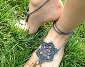 Barefoot Sandals, Summer Star crochet foot jewelry