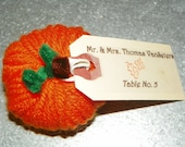 Handmade Yarn Pumpkin Favors or Placecard Holders Great for Weddings, Parties, Etc.