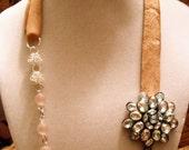 Valentine Pink Flower Necklace