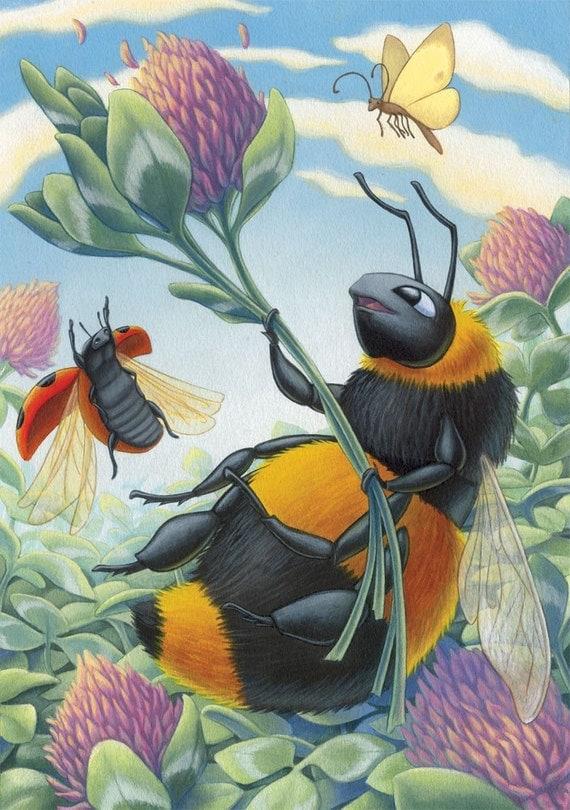 Happy Bee Print