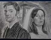 The Doctor and Donna drawing