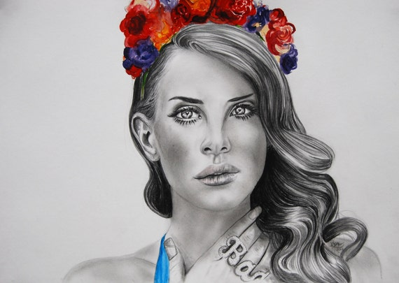 Lana Del Rey - Blue Jeans - Drawing